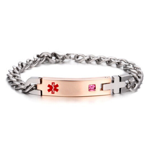 Satinless Steel Medical Id Bangle